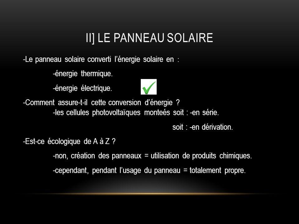 II] le panneau solaire